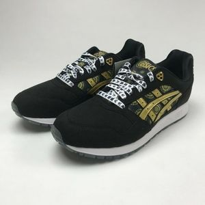 ASICS GEL-SAGA BLACK/GOLD FUSION MEN'S US 9.5 NEW
